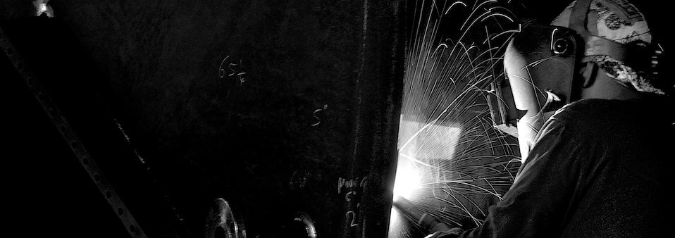 welder b and w